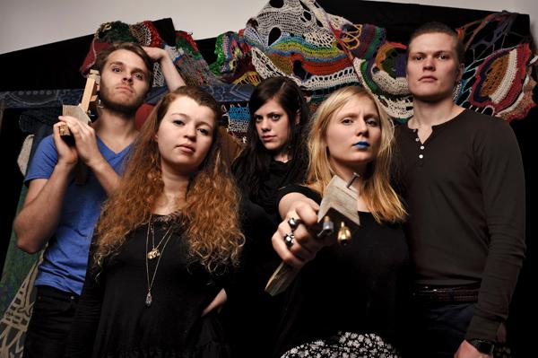 Portraits of Icelandic band Mammut in Reykjavik, Iceland