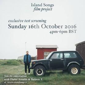 Specjalny pokaz fragmentu filmu Island Songs Ólafura Arnaldsa